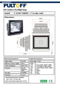 Документация для 30W 5500-6500k 100гр 2400Lm 220V