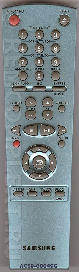 Пульт ДУ SAMSUNG AC59-00049G оригинал VCR.