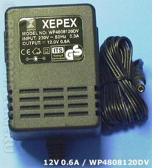 Адаптер 12V 600mA (WP4808120DV)