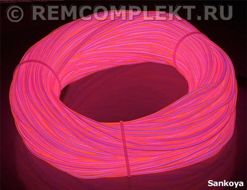 Холодный неон 3,2-50 Sankoya (розовый) 1 метр бухта 50 метров