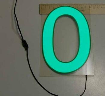 Светящаяся бумага цифра '0' 12x18см зеленая/прозрачн