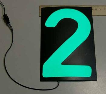 Светящаяся бумага цифра '2' 12x18см зеленая/черный