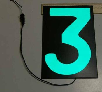 Светящаяся бумага цифра '3' 12x18см зеленая/черный