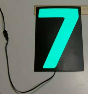 Светящаяся бумага цифра '7' 12x18см зеленая/черный