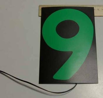 Светящаяся бумага цифра