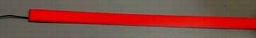 Светящаяся бумага лента 2 см х 100 см красная, ламинированная