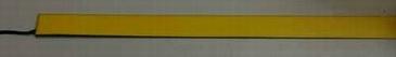Светящаяся бумага лента 2 см х 100 см желтая, ламинированная