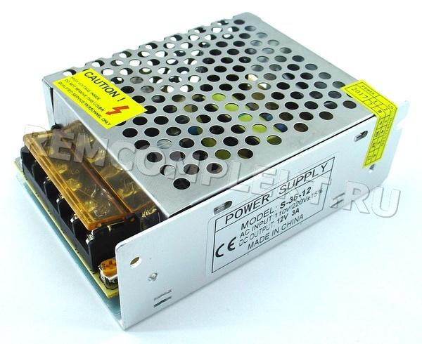 Блок питания 12V 3A (HF36W-S-12) встраиваемый (опт. цена от 10 шт)