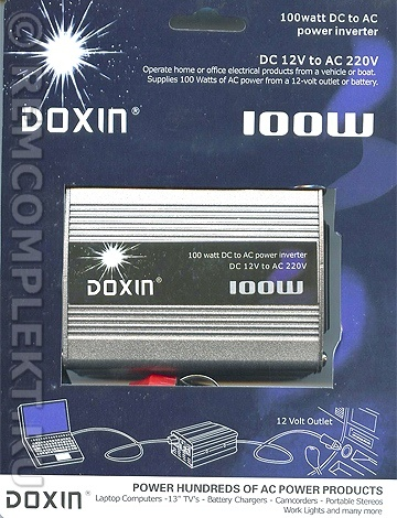 Инвертер for auto DOXIN DC12V to AC220V 100Вт
