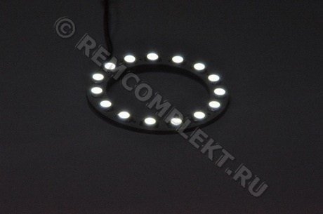 Ангельские глазки 5050 белые 5500-6500 15 светодиодов d6cm 12V (опт. цена от 10шт)