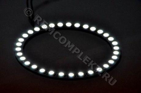 Ангельские глазки 5050 белые 5500-6500 33 светодиода d10cm 12V (опт. цена от 4 шт)
