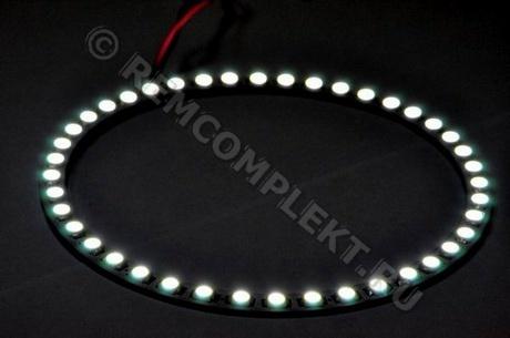 Ангельские глазки 5050 белые 5500-6500 42 светодиода d14cm 12V (опт. цена от 10 шт)