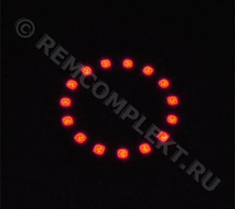 Ангельские глазки 5050 красные 15 светодиодов d6cm 12V