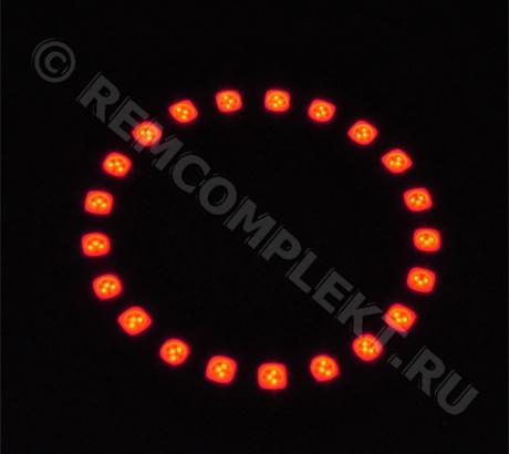 Ангельские глазки 5050 красные 21 светодиод d7cm 12V