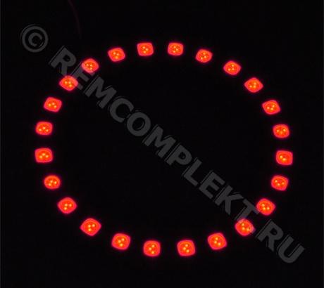 Ангельские глазки 5050 красные 24 светодиода d8cm 12V