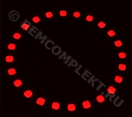 Ангельские глазки 5050 красные 24 светодиода d9cm 12V