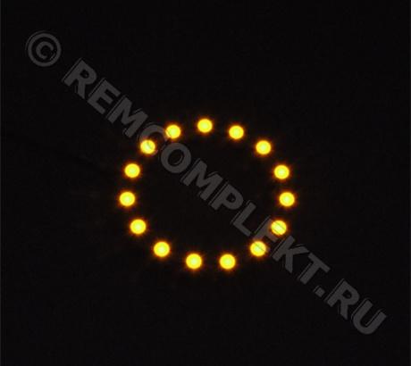Ангельские глазки 3528 желтые 15 светодиодов d6cm 12V (опт. цена от 4 шт)