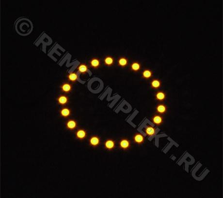 Ангельские глазки 3528 желтые 21 светодиод d7cm 12V (опт. цена от 4 шт)