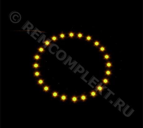 Ангельские глазки 3528 желтые 24 светодиода d8cm 12V (опт. цена от 4 шт)