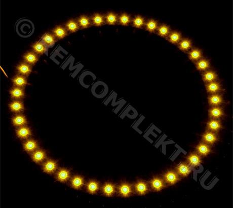 Ангельские глазки 3528 желтые 42 светодиода d13cm 12V (опт. цена от 4 шт)