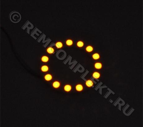 Ангельские глазки 5050 желтые 15 светодиодов d6cm 12V