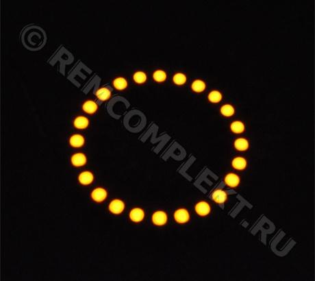Ангельские глазки 5050 желтые 24 светодиода d8cm 12V
