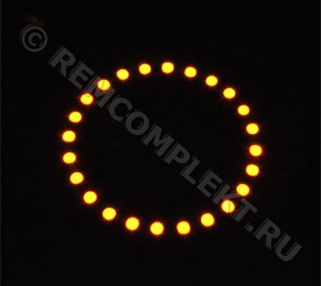 Ангельские глазки 5050 желтые 24 светодиода d9cm 12V