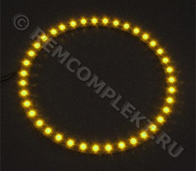 Ангельские глазки 3528 желтые 39 светодиодов d12cm 12V (опт. цена от 4 шт)