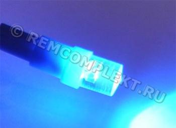 Светодиодная автолампа T5 синяя 1светодиод 12V (опт. цена от 50 шт)