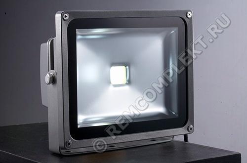 Прожектор светодиодный 30W синий 100гр 1500Lm 220V IP65 (опт. цена от 2 шт)