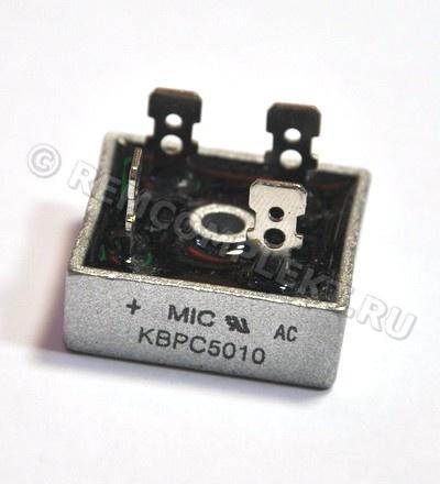 Купить товар: Диодный мост KBPC5010 32x32mm ...