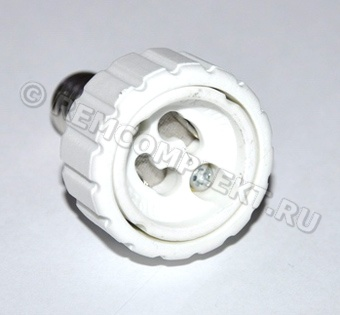 Патрон переходник с цоколя E14 в GU10 до 5W для LED ламп (опт. цена от 5 шт)