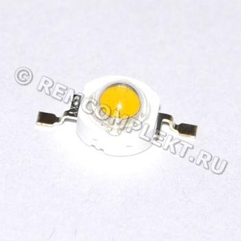 Светодиод 3W белый 150-180Lm 2800-3000k 3,6-3,8V 700mA (опт. цена от 50 шт)