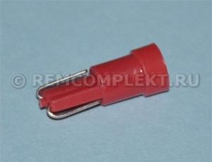 Светодиодная автолампа T5 красная 1 светодиод smd 12V