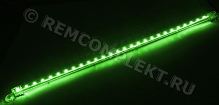 Светодиодная лента 3528 зеленый 27 светодиодов/36,5см 12V (опт. цена от 4 шт)