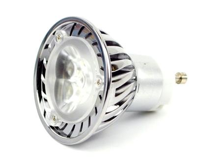 Светодиодная лампа MR16 GU10 2800-3100k 3x1W 220V (3W03CWW42) (опт. цена от 5 шт)