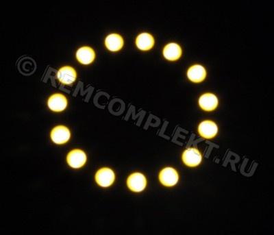 Ангельские глазки 5050 белые 2800-3500k 15 светодиодов d6cm 12V