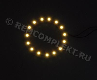 Ангельские глазки 3528 белые 2800-3500k 15 светодиодов d6cm 12V (опт. цена от 4 шт)