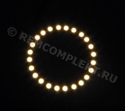 Ангельские глазки 5050 белые 2800-3500k 24 светодиода d8cm 12V (опт. цена от 4 шт)