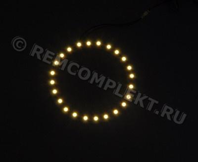 Ангельские глазки 3528 белые 2800-3500k 24 светодиода d8cm 12V (опт. цена от 4 шт)