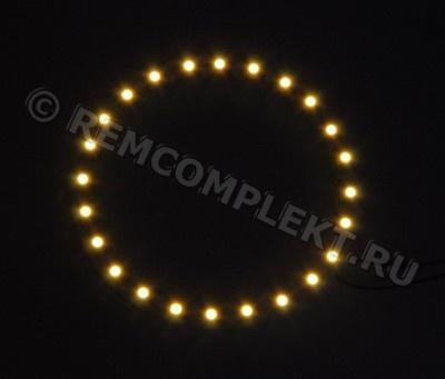 Ангельские глазки 3528 белые 2800-3500k 24 светодиода d9cm 12V (опт. цена от 4 шт)
