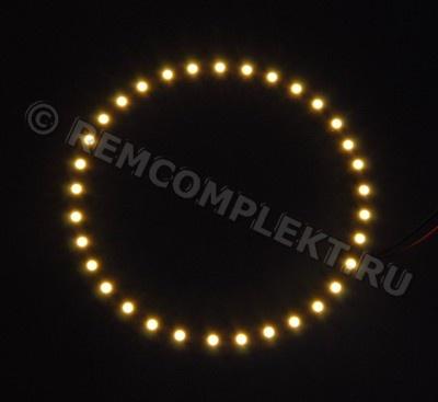 Ангельские глазки 3528 белые 2800-3500k 33 светодиода d10cm 12V (опт. цена от 4 шт)
