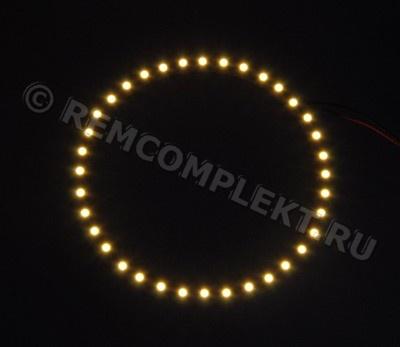 Ангельские глазки 3528 белые 2800-3500k 36 светодиодов d11cm 12V (опт. цена от 4 шт)