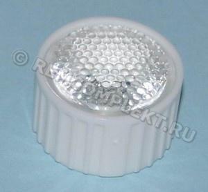 Линза для светодиода №10 d21,6mm h14,2mm 20° (опт. цена от 100 шт)
