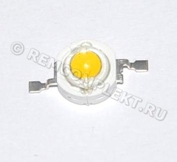 Светодиод 1W белый 90-100Lm 3000-3200k 3,2-3,4V 350mA (опт. цена от 50 шт)