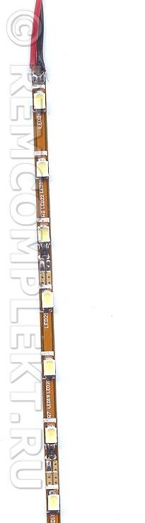 Светодиодная лента 3020 белая 3300k 24 светодиода 9-10lm 288*2,5мм 0,15Aмет.