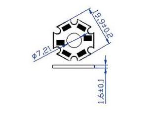 Светодиод 1W желтый 15-20Lm 590-595nm 2,2-2,4V 350mA (опт. цена от 50 шт)