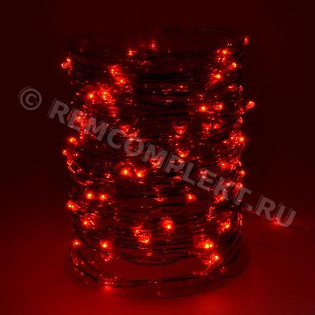 Светодиодные капли красные 5м 100 светодиодов 3V (CLS100RE5M3V) (опт. цена от 10 м)