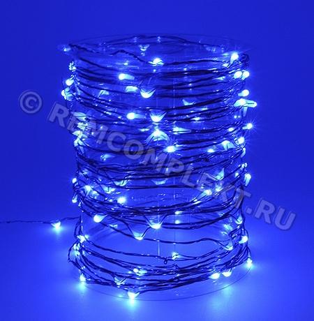 Светодиодные капли синие 3V 110mA 10м 100 светодиодов (опт. цена от 20 м)