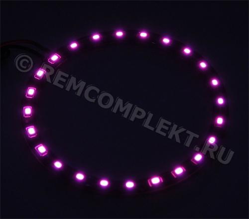 Ангельские глазки 3528 розовые 24 светодиода d9cm 12V (опт. цена от 10 шт)